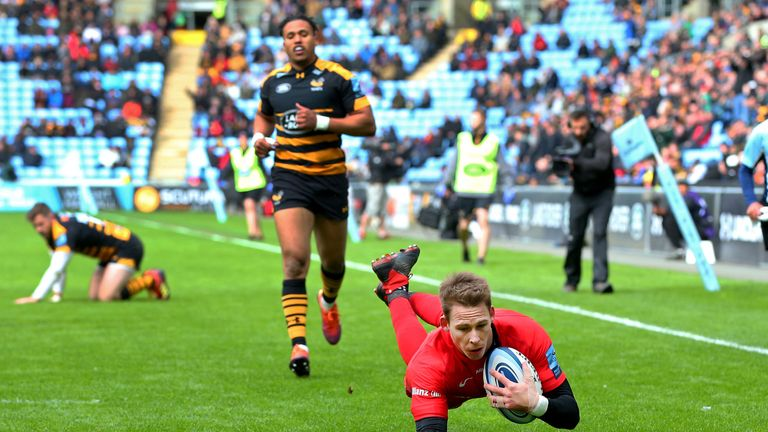 Saracens ran in three first-half tries to help secure victory