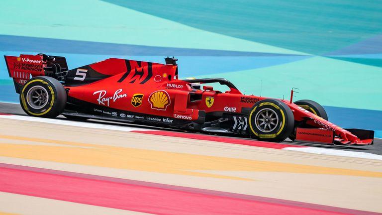 Sebastian Vettel finished third for Ferrari