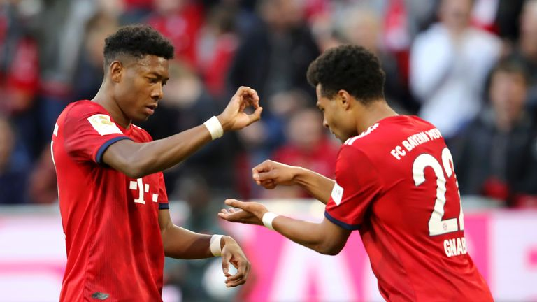 Serge Gnabry and David Alaba concocted an... unusual celebration