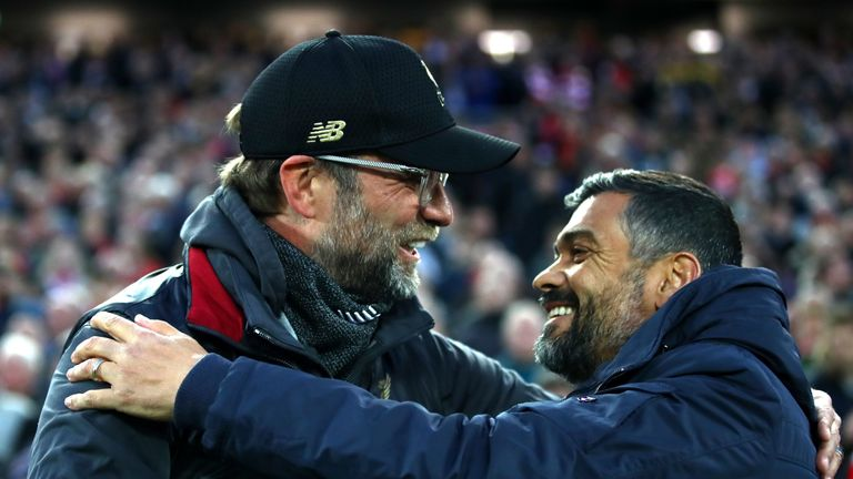 Jurgen Klopp's Liverpool have been the best team on the planet at times, says Sergio Conceicao