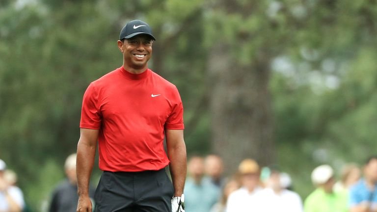Emotional Tiger Woods relives 2019 Masters win with CBS