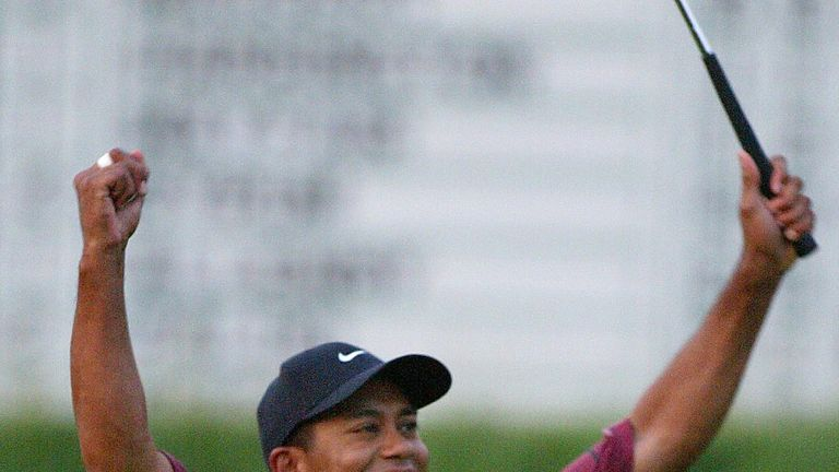 Woods won by three shots at Bethpage in 2002