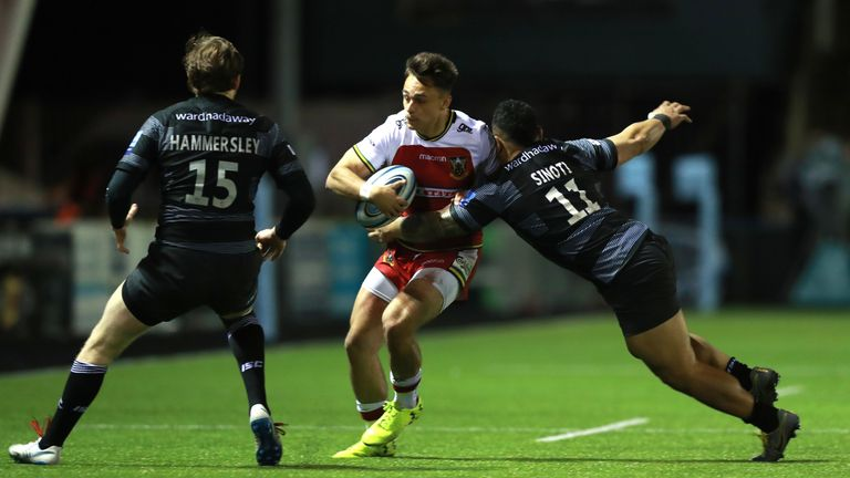 Tom Collins has scored eight tries in 13 Premiership matches