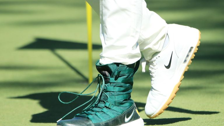 Tony Finau took a precautionary measure to avoid any repeat of his dislocated ankle