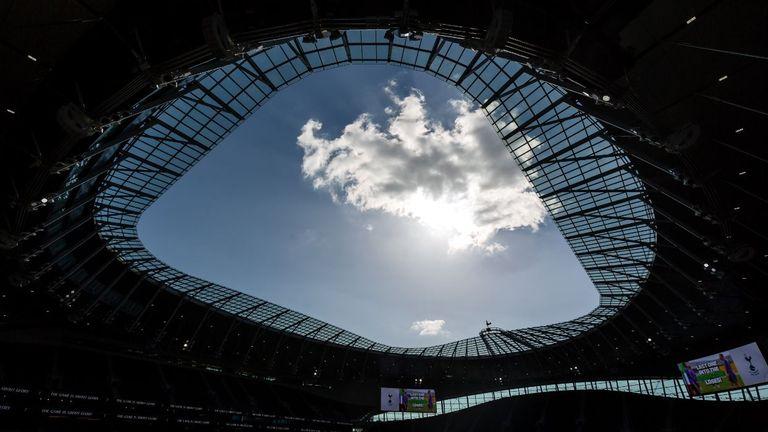Tottenham's stadium features a bespoke glass roof