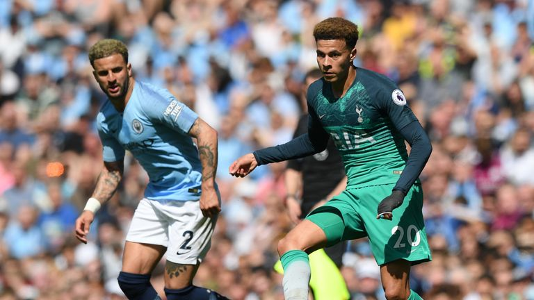 Dele Alli was in impressive form for Tottenham in their Premier League meeting with Manchester City