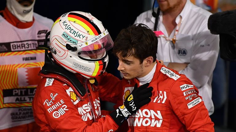 Karun Chandhok talks to Charles Leclerc about his impressive fightback at the start of the Bahrain GP.