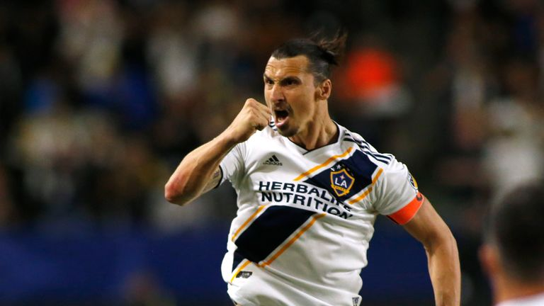 Zlatan Ibrahimovic in action for LA Galaxy in MLS which is expanding to 30 teams