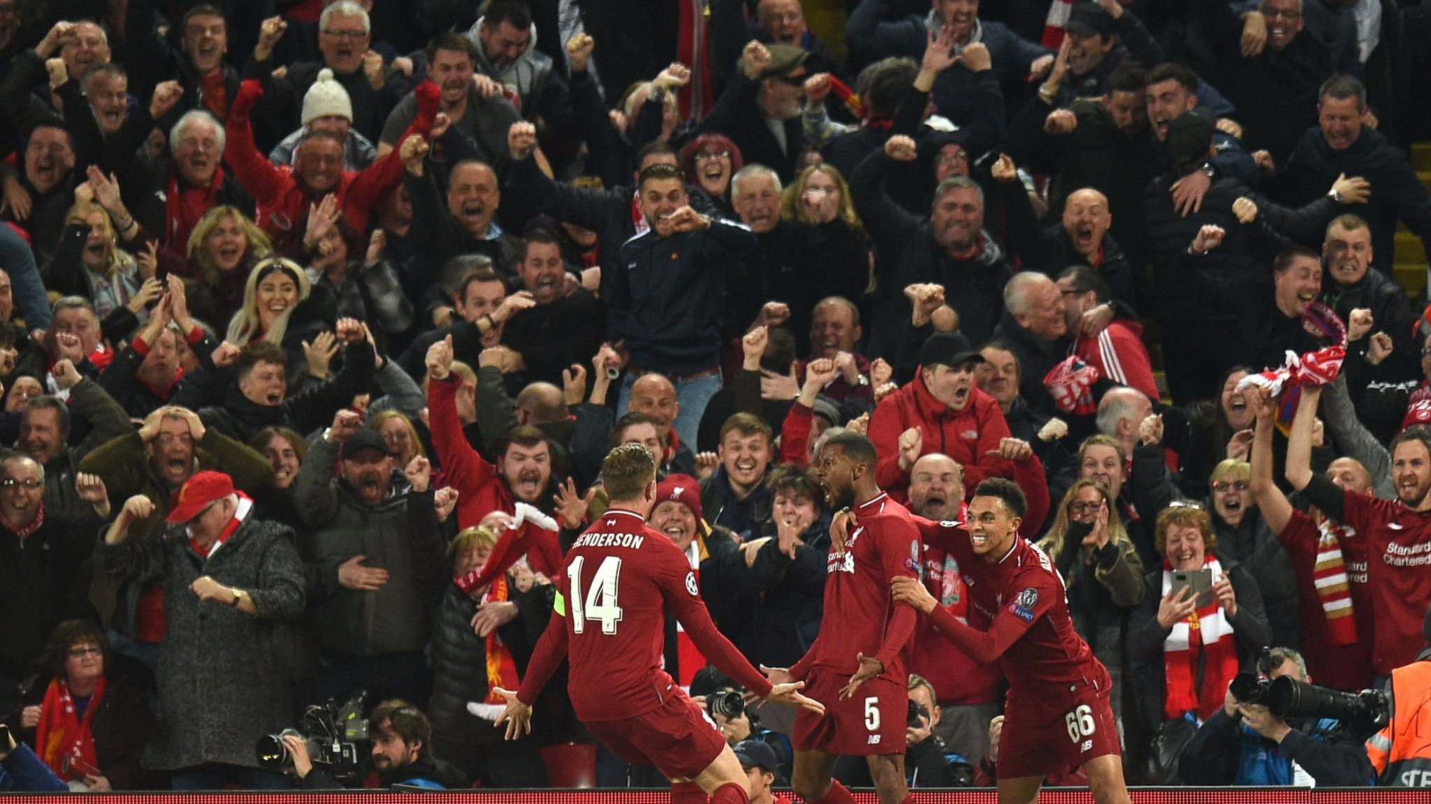 Liverpool 4-0 Barcelona: Anfield crowd inspires the unthinkable
