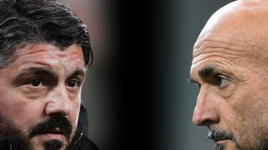 Gennaro Gattuso's AC Milan and Luciano Spalletti's Inter Milan are both chasing the Champions League spots
