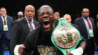 Deontay Wilder has 41 wins and a draw from 42 bouts