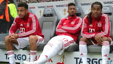 Jerome Boateng was on the bench during Saturday's German Cup final in Berlin