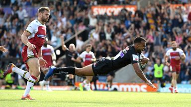 Tom O'Flaherty scored a sensational solo try as Exeter notched six in their semi-final win over Northampton on Saturday