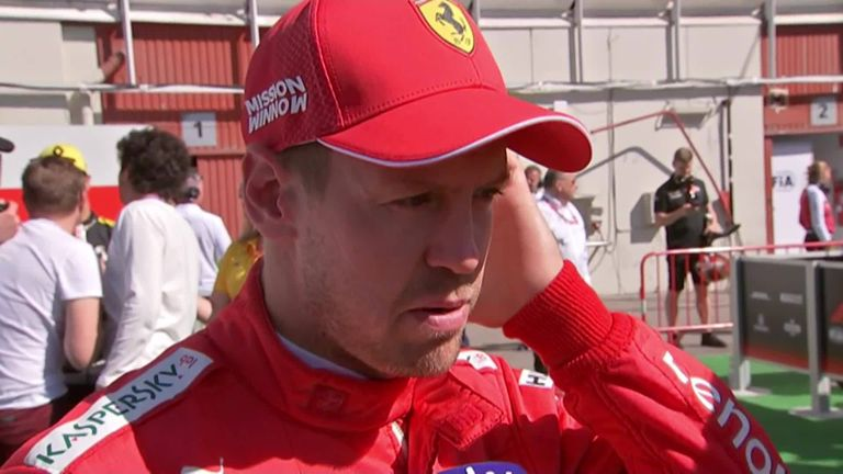 Ferrari driver Sebastian Vettel missed out on the podium after finishing his race fourth