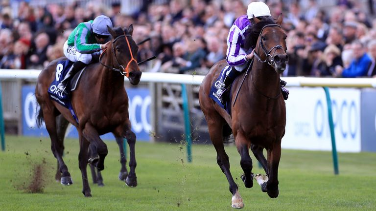 Magna Grecia beats King Of Change in the QIPCO 2000 Guineas