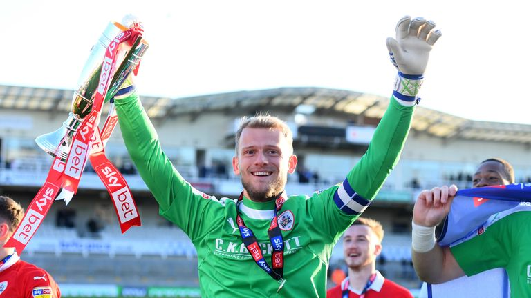 Davies helped Barnsley earn promotion back to the Championship