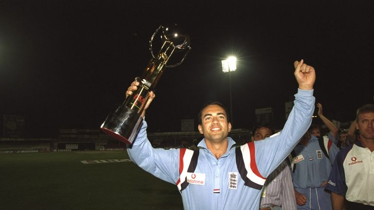 Adam Hollioake captained England to victory in the 1997 Sharjah Cup