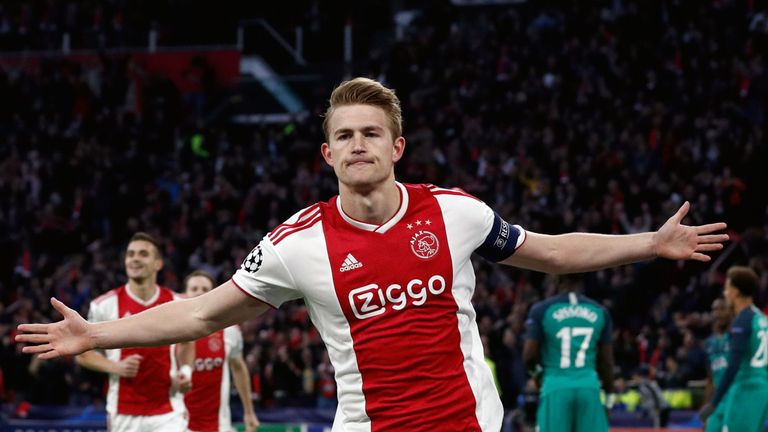 Matthijs de Ligt scored the opening goal from a corner