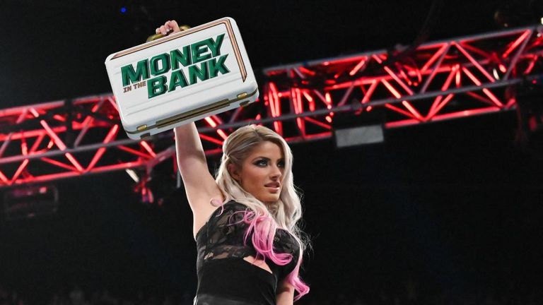 Alexa Bliss raised the Money In The Bank briefcase at Raw in London this week after her newly-acquired friend Nikki Cross had won a fatal four-way