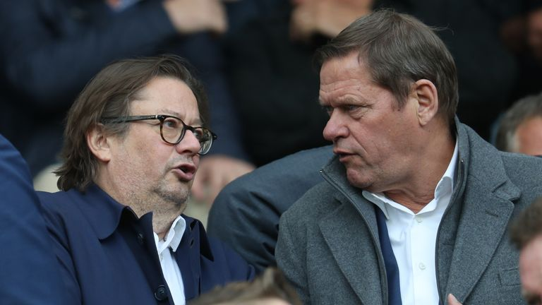 Frank Arnesen (right) is a former director of football at Chelsea and Tottenham, now at Anderlecht