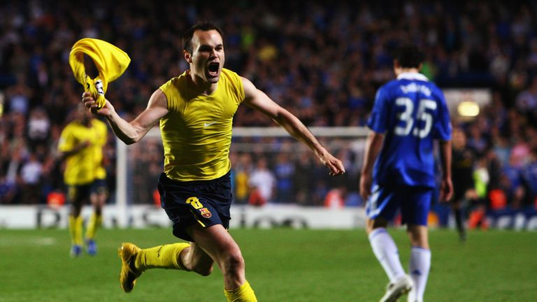 A late strike from Andres Iniesta saw Barcelona snatch a 1-1 draw with Chelsea