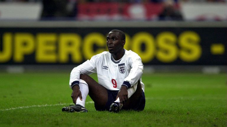 """Andy Cole has revealed he was left """"embarrassed"""" by Teddy Sheringham during his England debut"""