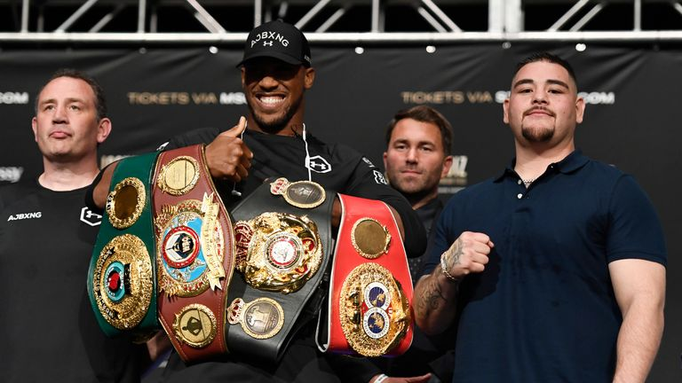 Joshua must firstly retain his titles before considering future plans