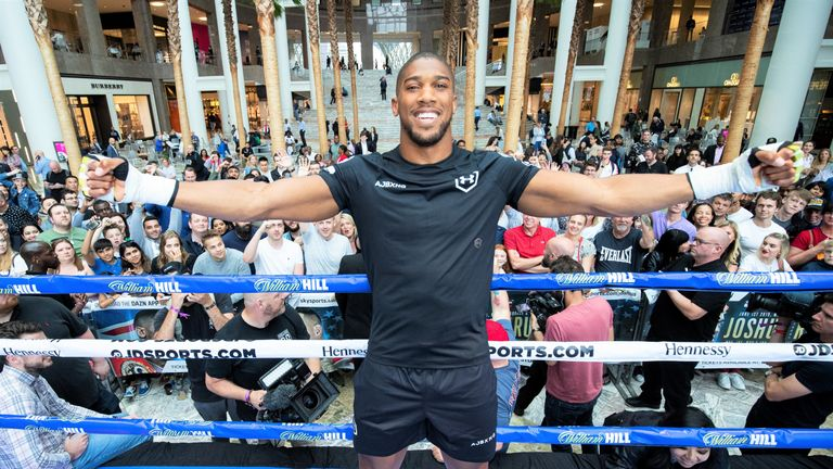 Anthony Joshua was targeting an undisputed world title fight after his US debut against Andy Ruiz Jr on Saturday