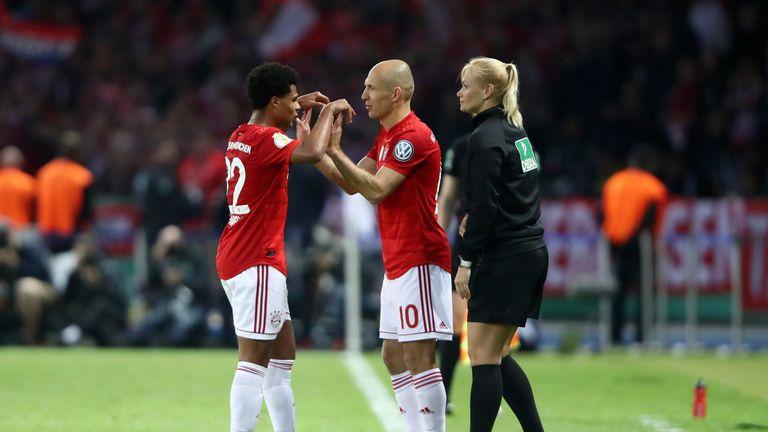 Arjen Robben makes his final appearance for Bayern Munich