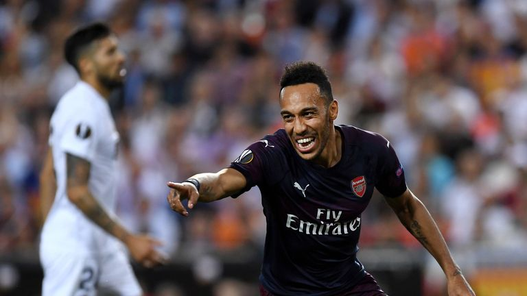 Aubameyang has netted 29 times for Arsenal this season