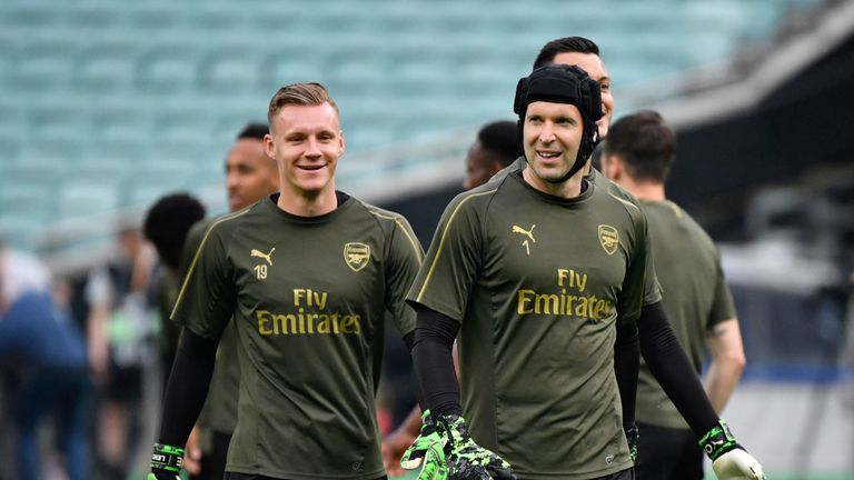 Petr Cech was replaced last season by Leno as Arsenal's first-choice stopper