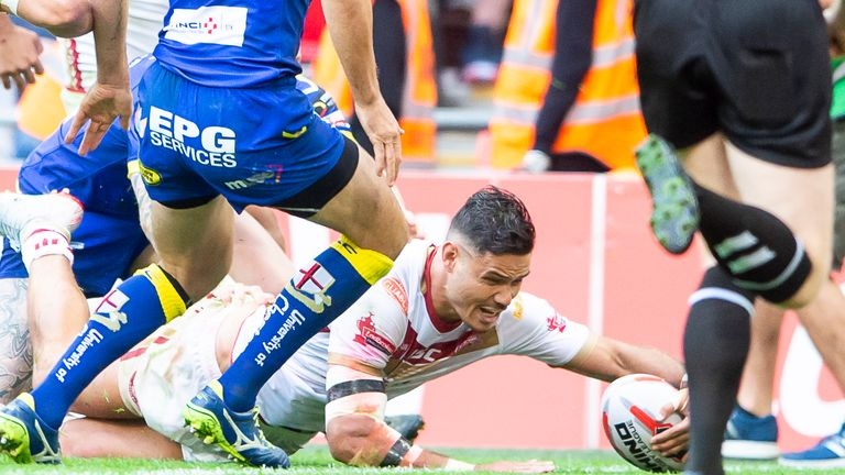 Brayden Wiliame dotted down for Catalans but it wasn't enough