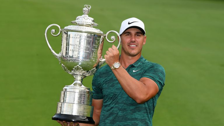 Koepka held off Tiger Woods to win the PGA last August