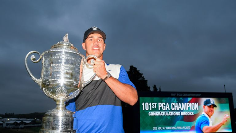 Koepka lifts the Wanamaker Trophy for a second time
