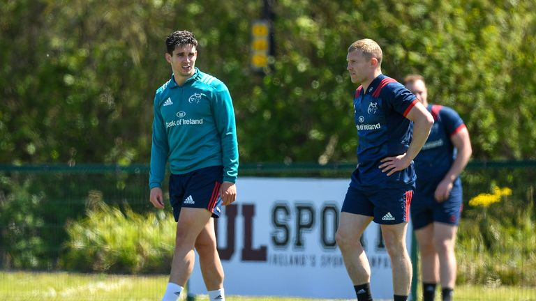 The returns from injury of Joey Carbery (left) and Keith Earls (right) is a major positive for Munster