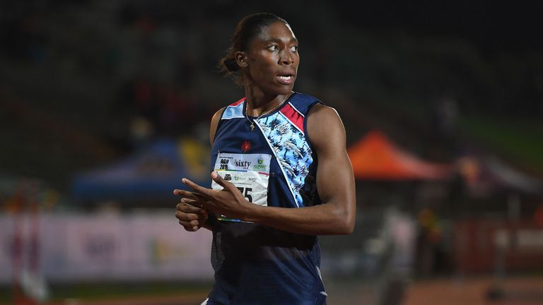 Caster Semenya at the ASA Senior Championships in Germiston, South Africa