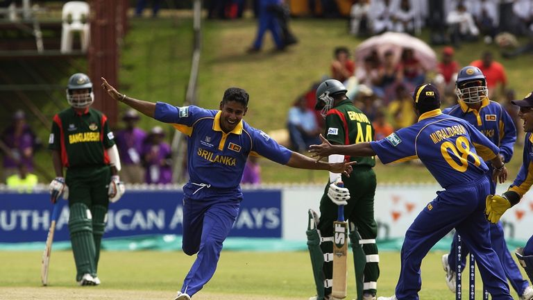 Chaminda Vaas, took a hat-trick with the first three balls of the match Bangladesh