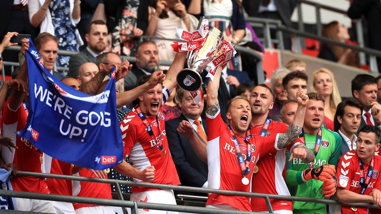 Charlton won the League One play-off final but are tipped by the bookmakers to struggle
