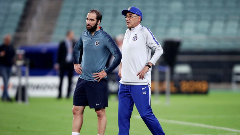 Higuain has worked with Maurizio Sarri both at Chelsea and at Napoli