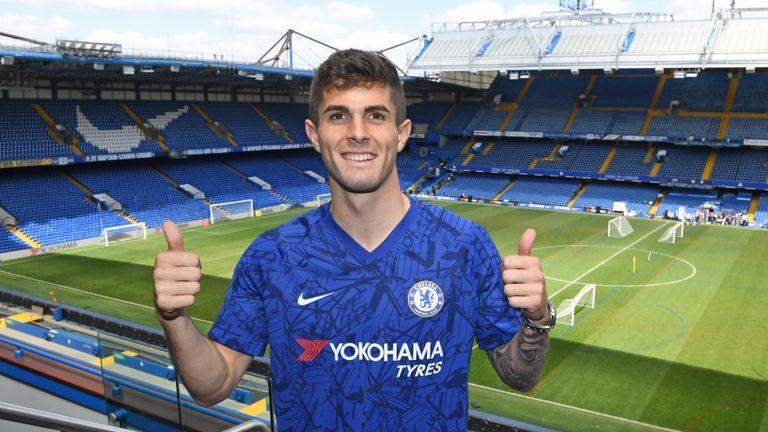 Chelsea unveil new signing Christian Pulisic at Stamford Bridge