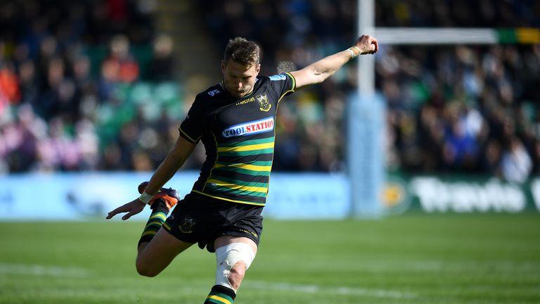 Dan Biggar kicked five conversions for Northampton against Worcester