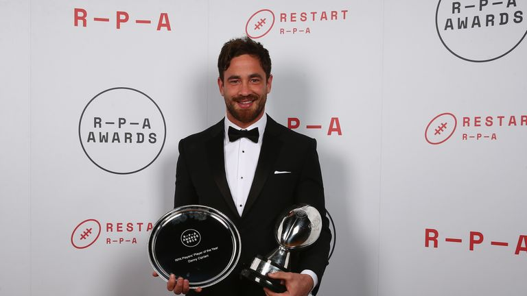 Danny Cipriani was crowned RPA Players' Player of the Year on Wednesday