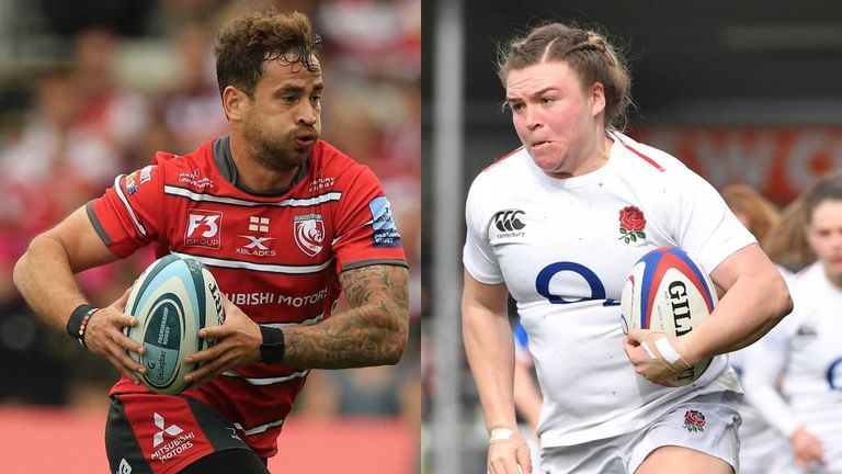 Danny Cipriani and Sarah Bern picked up the top awards at Twickenham on Wednesday night