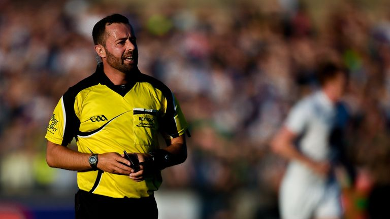 Referee David Gough was among those to lead the drive within the GAA