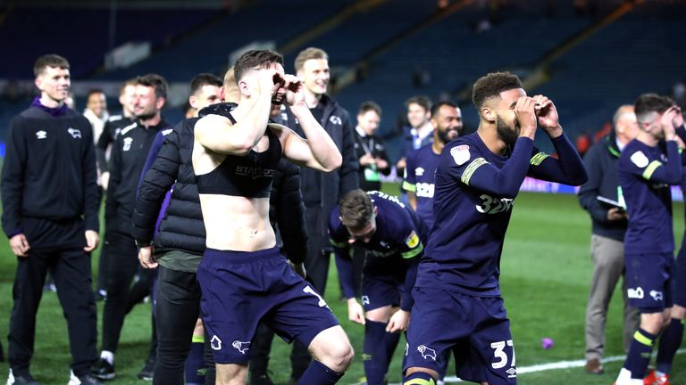 Derby after beating Leeds in the semi-finals