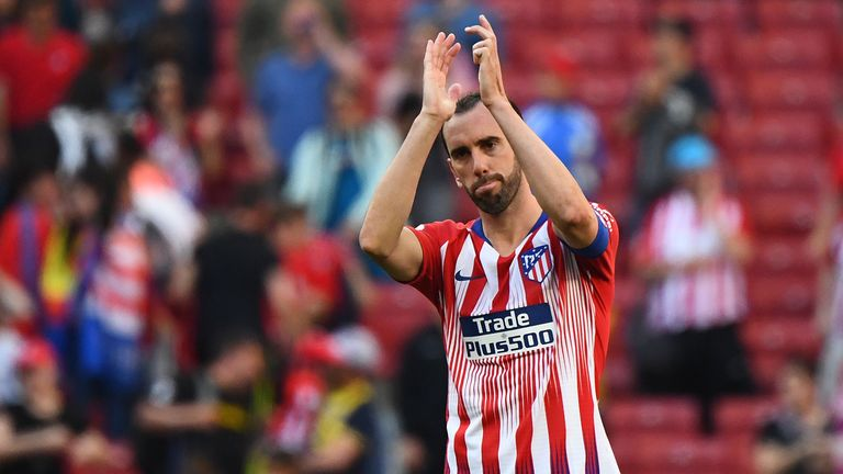 Diego Godin has announced he will leave Atletico Madrid at the end of the season