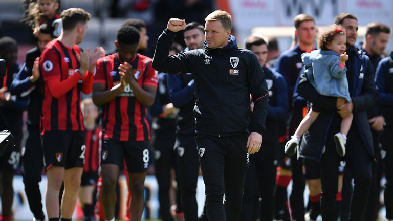 Eddie Howe salutes Bournemouth supporters