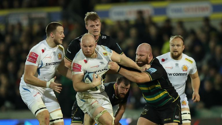 Exeter Chiefs take on Northampton Saints this weekend in a key clash