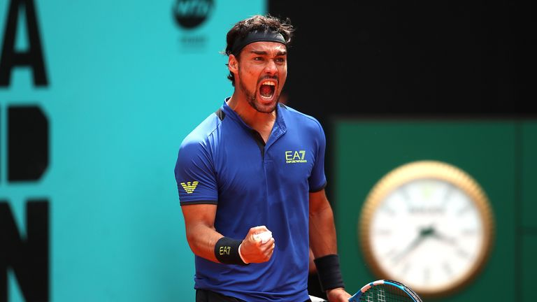 Fognini has been in red-hot form after winning in Monte-Carlo last month