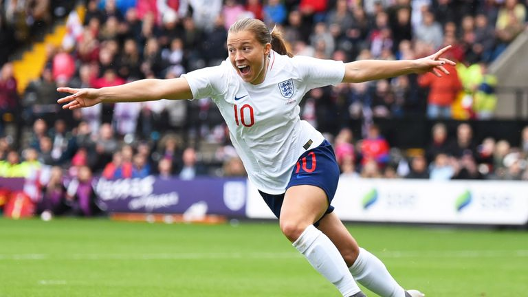 Fran Kirby has scored 12 goals in 37 matches in an England shirt